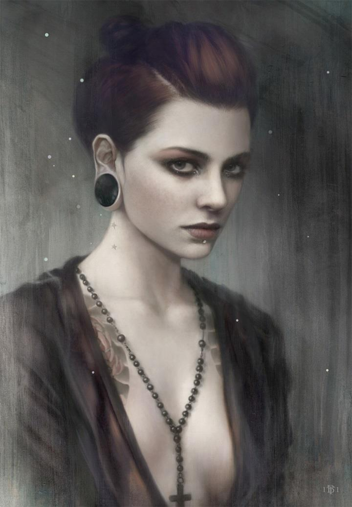 Tom Bagshaw - digital portrait