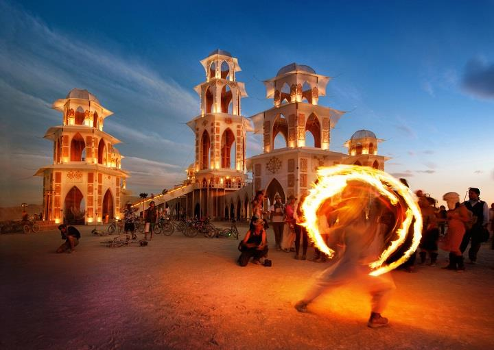 Trey Ratcliff - fire dancer at burning man