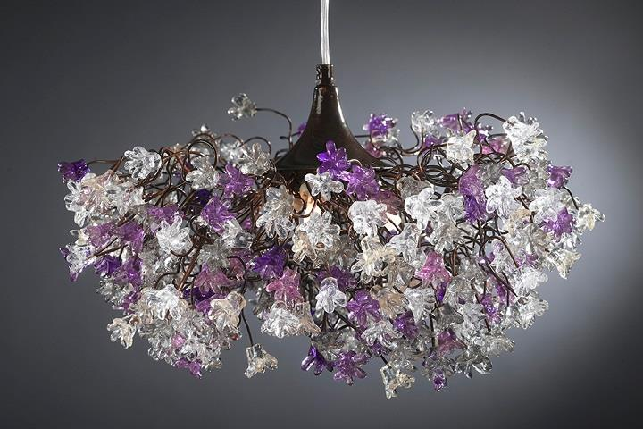 Vintage  chandelier autumnal Yehuda Ozan Lighting flowers