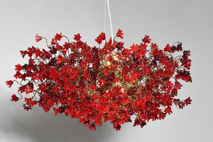 Yehuda Ozan Lighting - red flowers chandelier