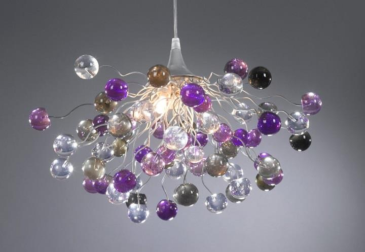Fresh  Yehuda Ozan Lighting violet bubbles chandelier