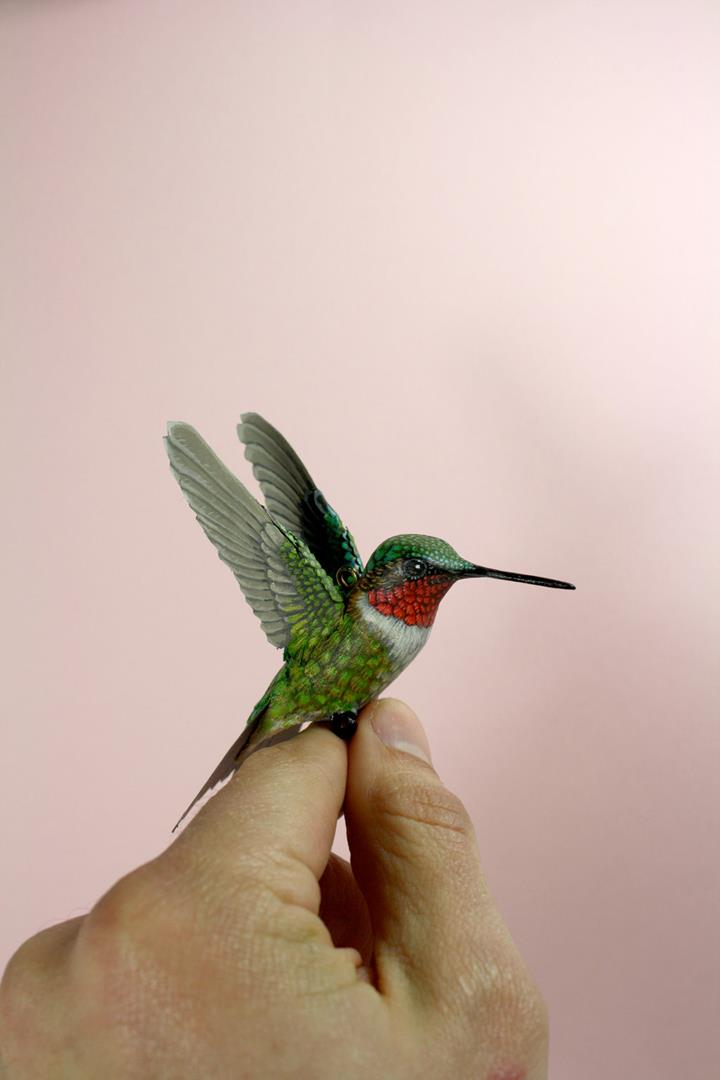 Zack Mclaughlin - ruby_throated_hummingbird_sculpture